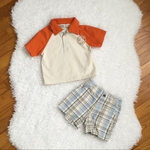 Boys Short Set 18 Months TIMBERLAND Plaid